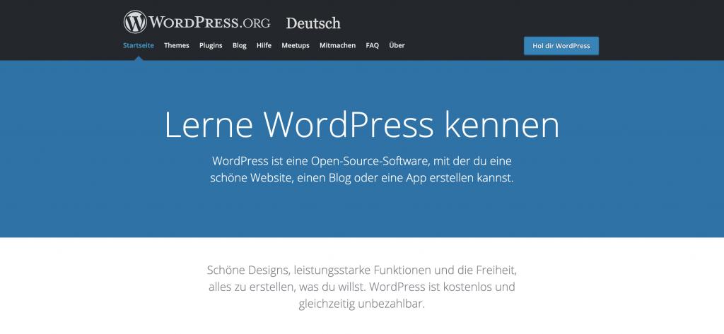 WordPress Seite